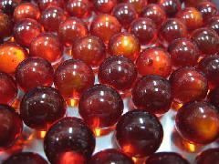 ビー玉・ガラス玉クリアカラー15mm×6000粒 レッド