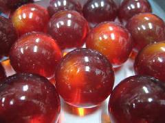 ビー玉・ガラス玉クリアカラー25mm×1250粒 レッド