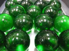 ビー玉・ガラス玉クリアカラー25mm×1250粒 グリーン