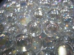 ビー玉・ガラス玉オーロラ17mm×4000粒 クリアー