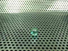 ビー玉・ガラス玉オーロラ12.5mmエメラルドグリーン