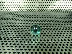 ビー玉・ガラス玉オーロラ17mmエメラルドグリーン