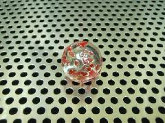 水玉・マーブル17mmレッド