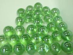 ビー玉・ガラス玉オーロラ12.5mm×300粒 ライトグリーン