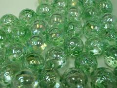 水玉マーブル17mm×130粒 グリーン
