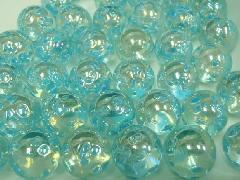 水玉マーブル17mm×130粒 ブルー
