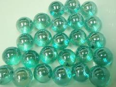 ビー玉・ガラス玉オーロラ12.5mm×10000粒 エメラルドグリーン
