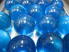 ビー玉・ガラス玉クリアカラー25mm×25粒 ブルー