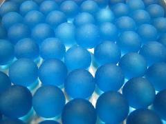 ビー玉・ガラス玉フロスト17mm×4000粒 ブルー