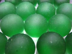 ビー玉・ガラス玉フロスト25mm×1250粒 グリーン