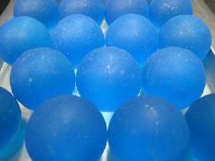 ビー玉・ガラス玉フロスト25mm×1250粒 ブルー