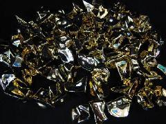 アクリルアイス・イミテーションアイス・ディスプレイアイス(M)約2.5�p×250g(約80粒入) ゴールド