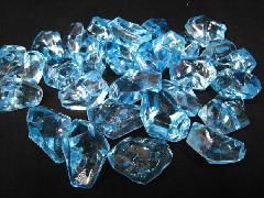 アクリルアイス・イミテーションアイス・ディスプレイアイス(L)約4�p×250g(約30粒入) ブルー