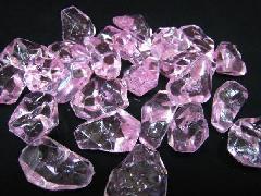 アクリルアイス・イミテーションアイス・ディスプレイアイス(L)約4�p×250g(約30粒入) ピンク