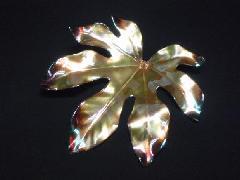 アクリルフラワー(リーフ・20cm・ゴールド)