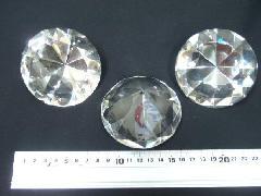 (傷・かけ・異物混入有り)8cmクリアダイヤ3個セット