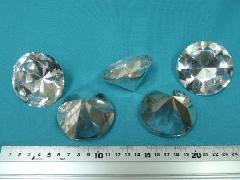 (傷・かけ・異物混入有り)6cmシルバーダイヤ5個セット
