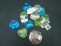 在庫処分「色々な形のガラス・14個セット」
