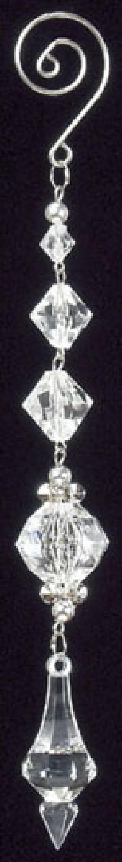クリアオーナメント(ダイヤカットアクリルアイシクルハンギング・全長20cm)OXM1058
