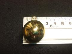 メッキボール25mm(ゴールド)ばら売り(花笠)