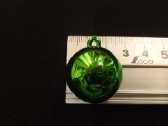 メッキボール25mm(グリーン)ばら売り(花笠)
