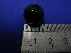 ビー玉・ガラス玉ブラックマーブル約15mm×125粒
