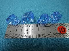 アクリルアイス・イミテーションアイス・ディスプレイアイス(M)約2.5cm(ブルー)250g・約70粒