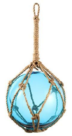 25cmフィッシュボールガラス製(ブルー)DE1158L