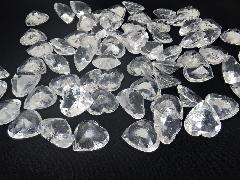アクリルクリスタルアイス(ハート型クリア1、7cm約70粒)