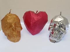 LoveSkullキャンドル3個セット(Candellanaポーランド製デザインキャンドル)