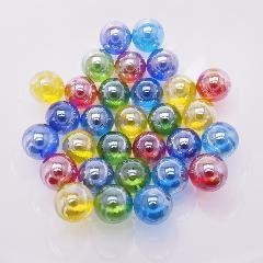 日本製ビー玉ガラス玉オーロラ約17mm5色MIX1500粒
