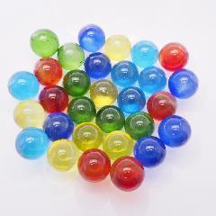 日本製ビー玉ガラス玉クリアカラー約17mm5色MIX1500粒