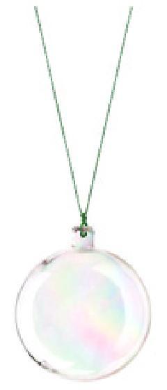 クリスマスボール(オーロラクリア・60mm・6ケ入り)OXM1424SS