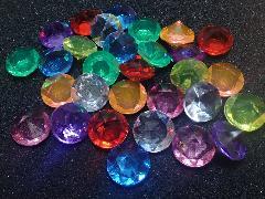 アクリルアイス(ダイヤ・クリアMIX)約2�p×250g(約72粒入)