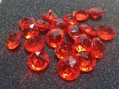 アクリルアイス(ダイヤ・レッド)約2�p×250g(約72粒入)