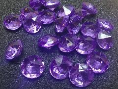 アクリルアイス(ダイヤ・パープル)約2�p×250g(約72粒入)