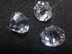 4cmダイヤモンド型3個入り(クリア)TOMI6100