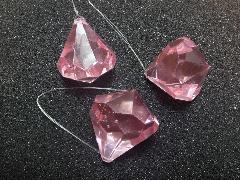 4cmダイヤモンド型3個入り(ピンク)TOMI6100