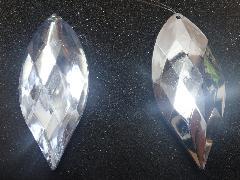 9cmサファイヤ型2個入り(クリア)TOMI6174片面ミラー