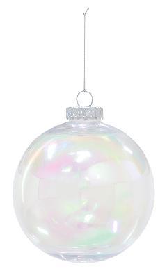 クリスマスボール(オーロラクリア150mm)PET製OXM1437