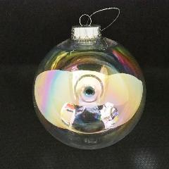 クリスマスボール(オーロラクリア120mm)PET製OXM1437