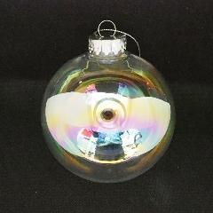 クリスマスボール(オーロラクリア100mm)PET製OXM1437