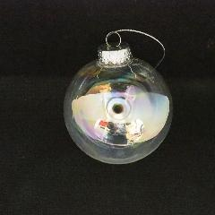 クリスマスボール(オーロラクリア80mm3ケセット)PET製OXM1437