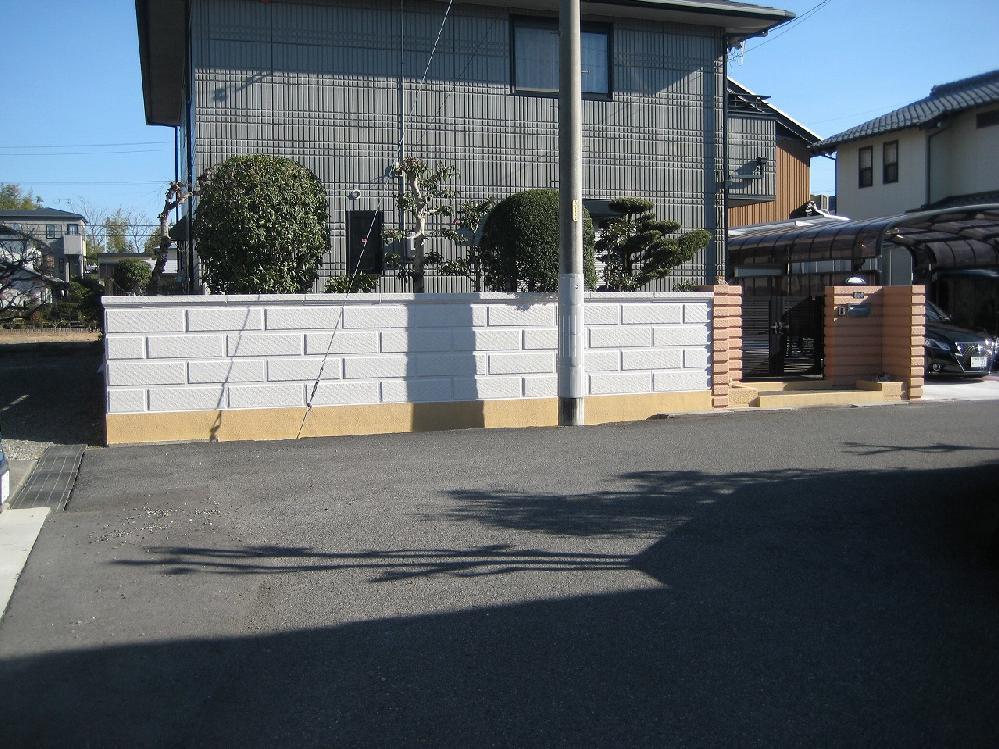 門、擁壁塗装