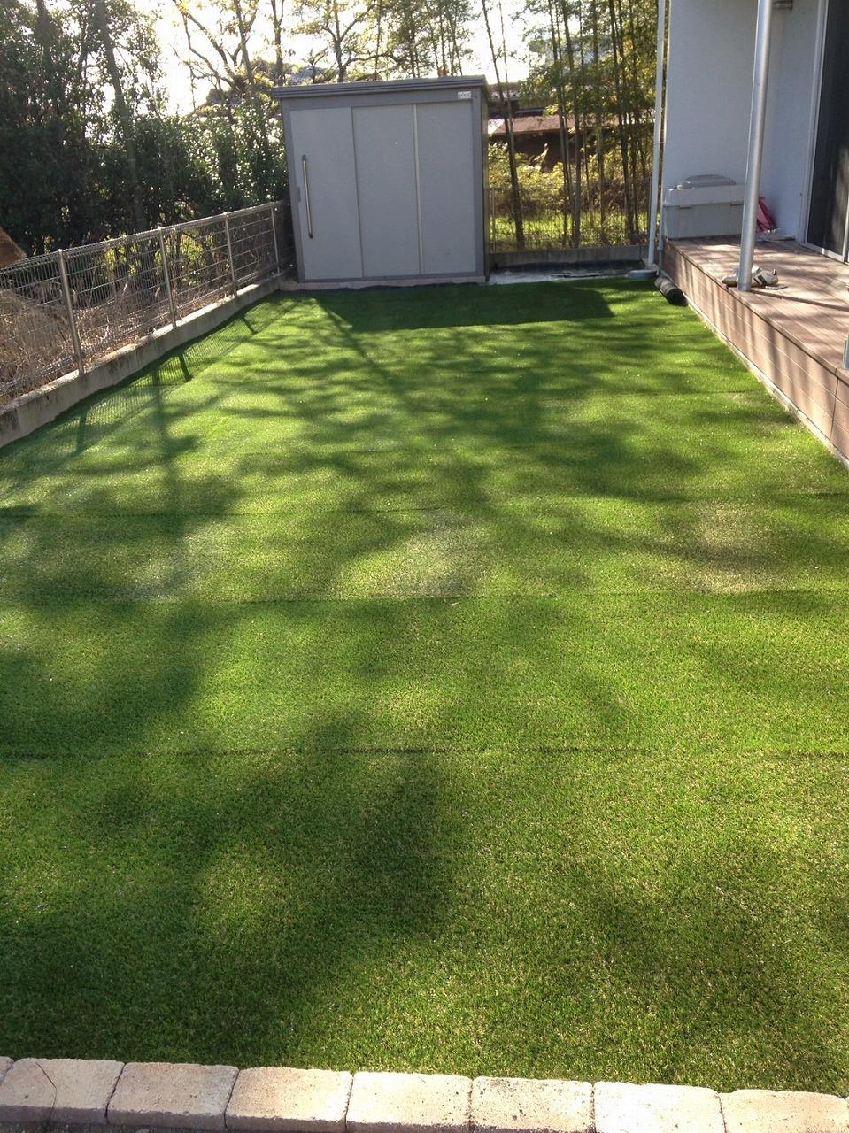 芝生を敷きました!