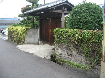 既存の塀にツタや苔がいっぱい。