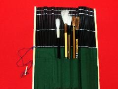ポケット付き筆巻  [黒] 33×33�p