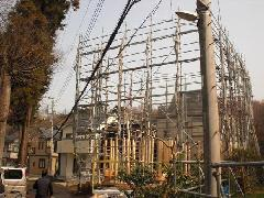 神奈川県相模原市橋本3階戸建の先行足場