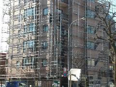 マンションの改修工事現場
