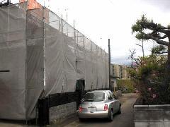 神奈川県座間市戸建の塗装工事足場工事